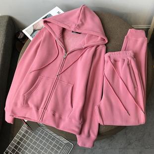 2020 осенью и зимой уплотнённый новинка плюс бархат молния закрытый свитер женские костюмы талия спортивный досуг два рукава волна