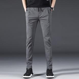 男士黑色西裤修身小脚九分裤直筒裤休闲男裤