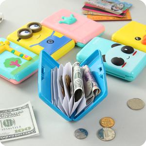 Gói thẻ nam giới và phụ nữ chủ thẻ nhỏ đồng xu ví chủ thẻ ngân hàng thẻ thẻ tập phim hoạt hình clips express thẻ tín dụng chống-fold