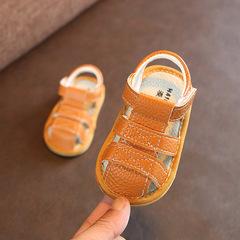 婴儿包头凉鞋软底男童夏季学步鞋女宝宝6-12个月0-1岁幼儿凉鞋2