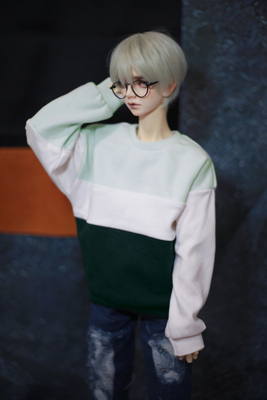 taobao agent ◆Bears◆BJD baby clothes A351 three-color stitching soft fleece Australian fleece sweater T-shirt Limited edition 1/4&1/3&Uncle
