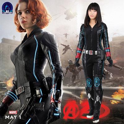 taobao agent Nado Avengers 2 black widow cos jumpsuit Ultron era widow sister cosplay costume female