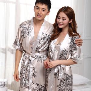 Lụa vài áo ngủ sexy lụa phần mỏng ngắn tay băng lụa đồ ngủ mùa xuân hè nightdress áo choàng tắm dịch vụ nhà