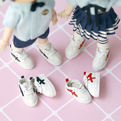 taobao agent ob11 baby shoes ddf body9 GSC body clay head can be worn casual all-match white shoes easy to wear!