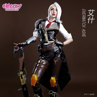 taobao agent Spot【cossky】Overwatch cos OW Ash cospaly clothing women's cos wig