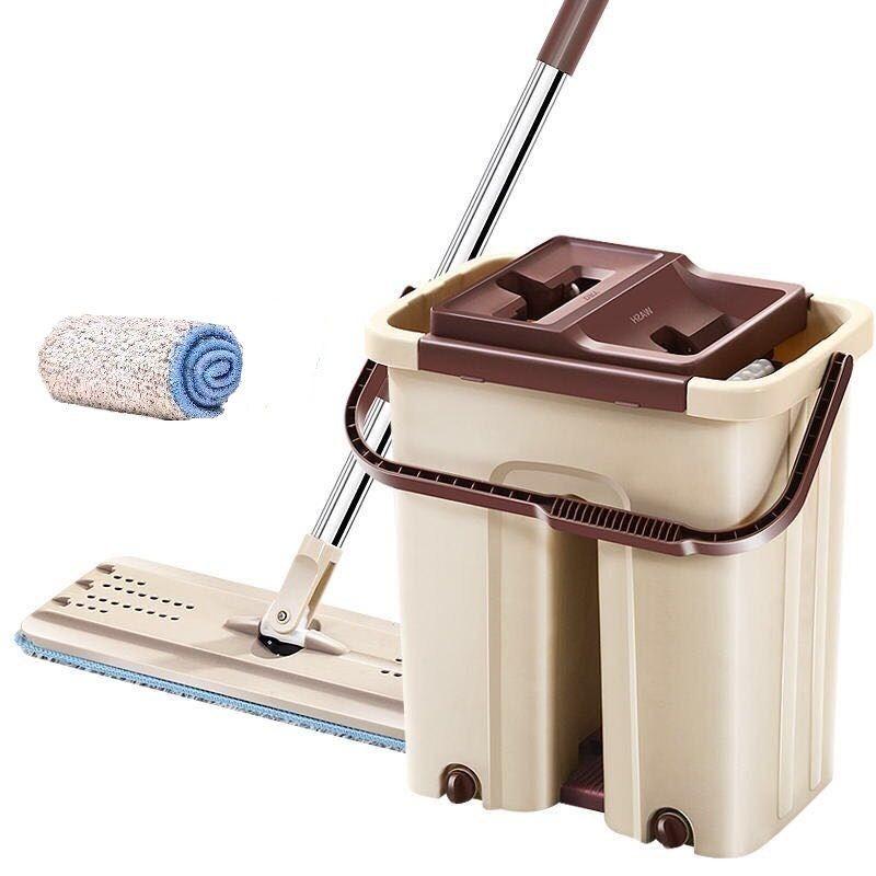 抖音同款刮刮乐懒人免手洗平板拖把木地板瓷砖家用拖把地拖墩布桶