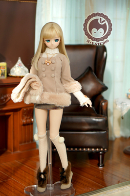 taobao agent 【Meow House】Japanese double-breasted ladies temperament coat windbreaker BJD baby clothes DD SDGR AS baby clothes