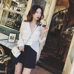 2018春装新款时髦春季复古温柔风衬衫省心搭配裙子两件套装女时尚