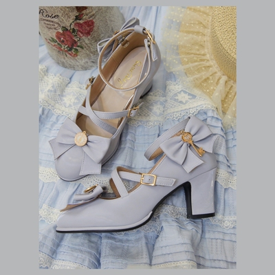 taobao agent Spot Japanese Lolita Alice's key lolita shoes in thick with flower wedding bow loniang fairy dance shoes