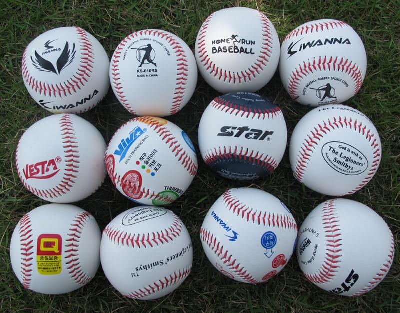 Bóng chày thể thao hàng hoá, khâu tay, cứng, mềm, rắn, học sinh tiểu học và trung học, thực hành kiểm tra, thực hành, đào tạo, softball