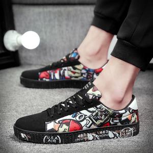 春季帆布鞋男士韩版休闲男鞋子经典布鞋运动板鞋拼色低帮鞋潮鞋