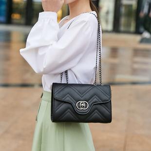 小香風菱格鏈條包時尚韓版單肩