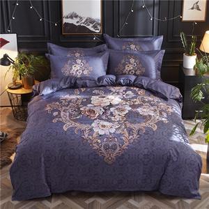 床上四件套全棉纯棉磨毛简约被套床单1.8m床双人网红被罩家纺用品