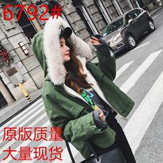 大毛领工装棉衣女短款学生韩版宽松加厚保暖羊羔毛棉服冬装外套潮