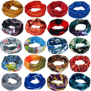 Cháy Jie mua đa chức năng ma thuật khăn trùm đầu ngoài trời street dance riding headscarf đa màu có thể thay đổi liền mạch cổ áo