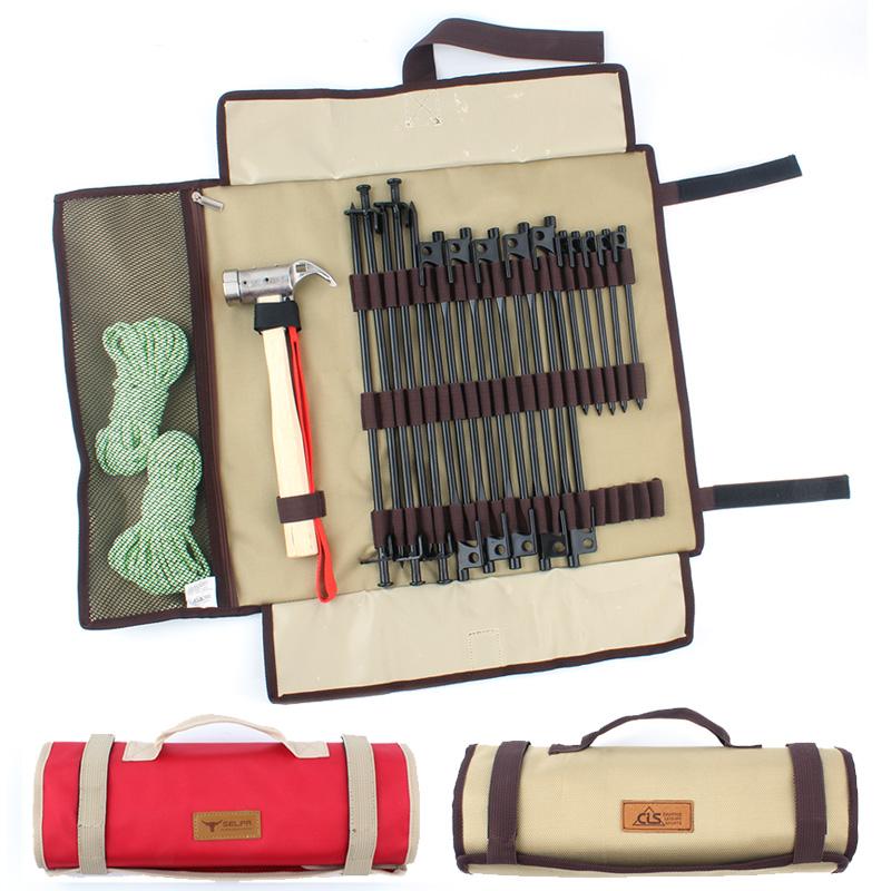 Ngoài trời thiết bị cắm trại nail bag trại nail bag lưu trữ bag lều phụ kiện búa cắm trại nguồn cung cấp lưu trữ túi lớn
