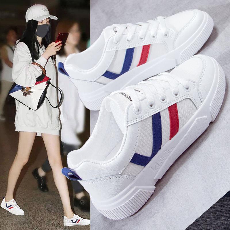 女士春季小白鞋运动鞋轻便跑步鞋休闲鞋女鞋