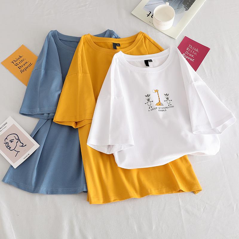 短袖t恤女韩版宽松夏季新款女装半袖上衣