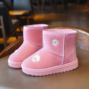 韓版男女兒童加絨加厚潮鞋雪地靴子