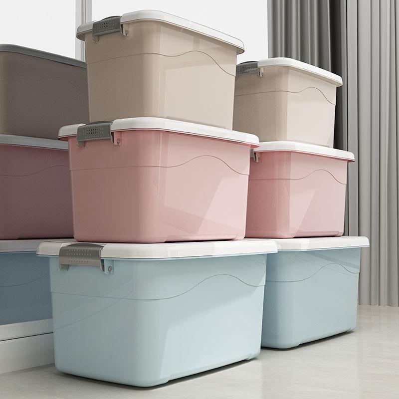 收纳箱塑料特大号小号手提玩具衣服被子箱子加厚车载家用储物箱