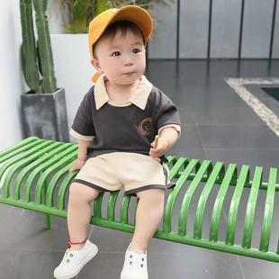 男童短袖套装新款男宝宝夏装儿童装女童幼婴