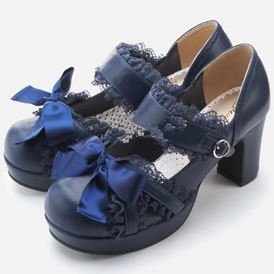 taobao agent Japanese QB retro palace classical lace princess girl with soft sister lo shoes lolita lolita shoes