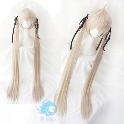 taobao agent Yuan Zhikong Kasuga Wild Dome Dome Girl Double Ponytail Milk Grey Gold Cos Wig