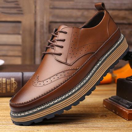 休闲鞋欧美潮流男士<font color='red'><b>皮鞋</b></font>布洛克雕花男鞋