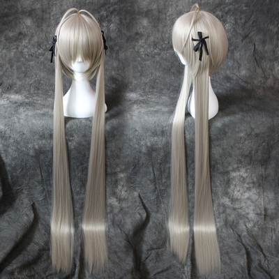 taobao agent Yuan Zhikong Kasuga Wild Dome Dome Girl Pigtail Double Ponytail Animated Super Original Cosplay Wig