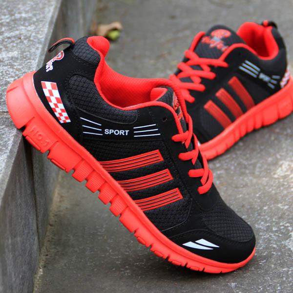 Mùa hè sinh viên nam giày lưới của nam giới siêu ánh sáng chạy giày giày chạy bộ thở giày thường giày giày du lịch giày thể thao
