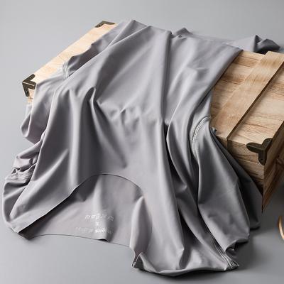 Liền mạch băng lụa T-Shirt ngắn tay nam mùa hè phần siêu mỏng nhanh chóng làm khô sữa lụa vòng cổ mùa hè từ bi xu hướng quần áo áo thun form rộng nam Áo phông ngắn