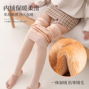 打底裤女士大码加绒加厚光腿神器秋冬高腰加大外穿保暖裤子连体裤