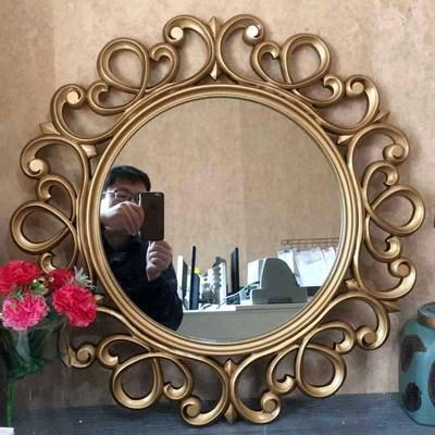 欧式复古手工雕刻定制尺寸洗手间镜壁挂镜子装