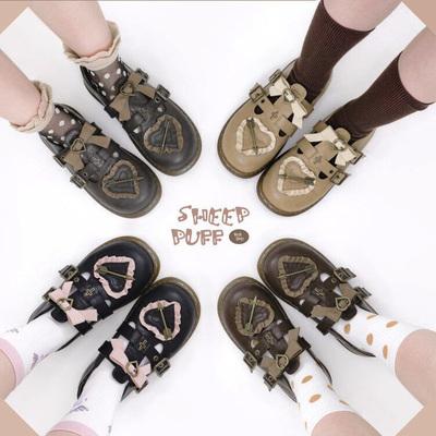 taobao agent 【Spot goods】Original sniper sweetheart sheep puffs Lolita shoes uniform shoes jk round head girl single shoes