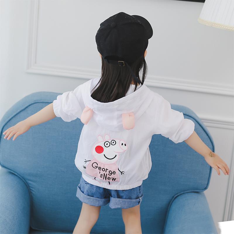 Trẻ em của bé chống nắng cô gái quần áo 1-3 tuổi 2018 mới 2 Hàn Quốc phiên bản của phần mỏng mùa hè nước ngoài khí UV bảo vệ áo khoác