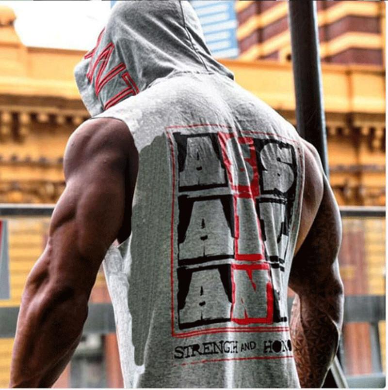 Cơ bắp tập thể dục brothers thể thao vest nam ngoài trời mùa hè không tay trùm đầu vest lỏng hoodie phần mỏng áo len