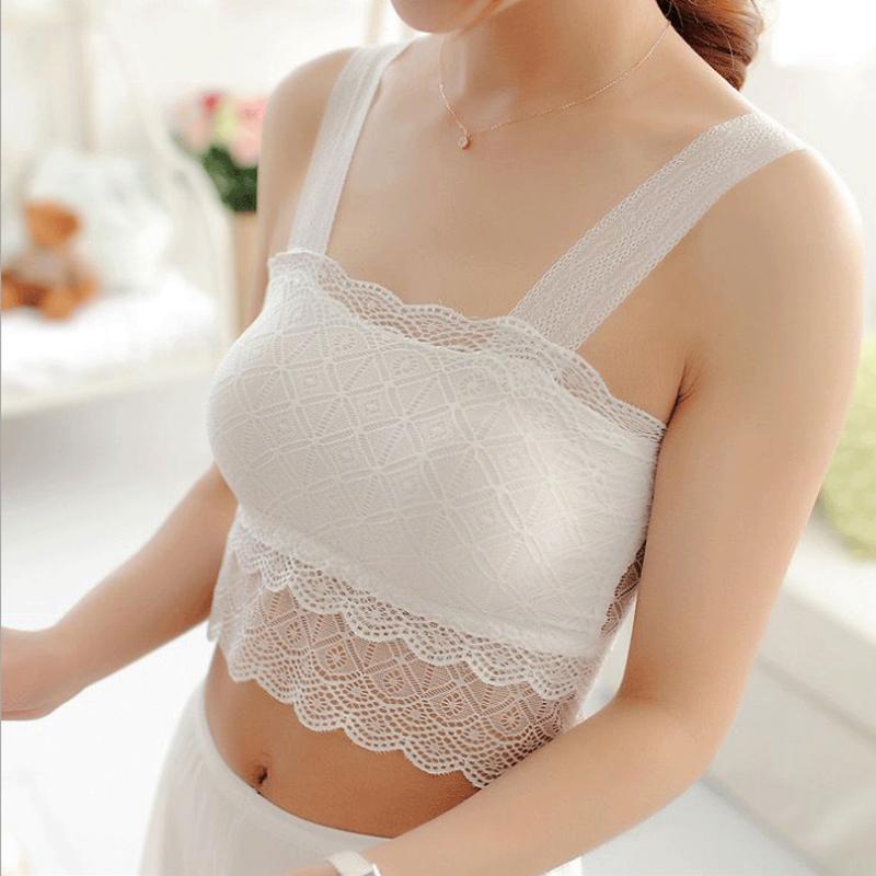 Mùa xuân và mùa hè ren vẻ đẹp trở lại bọc ngực ngực dây đeo ngực pad chống mất phương thức kích thước lớn yếm trong đáy đồ lót nữ