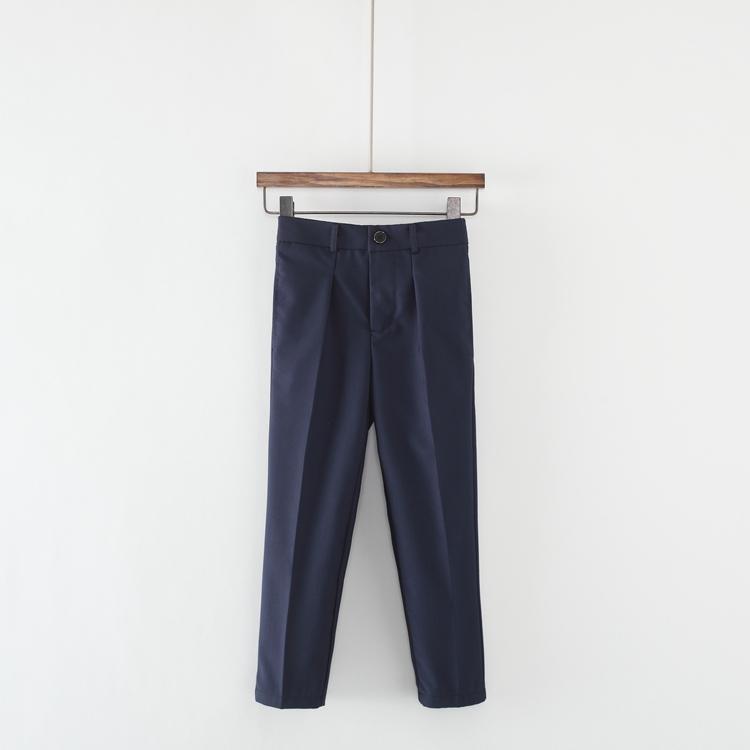 Quần áo trẻ em Quần trẻ em và quần dài Trẻ em trung và nhỏ Quần hiệu suất quần trẻ em Quần bé gái hoa Quần quần màu xanh đậm - Quần