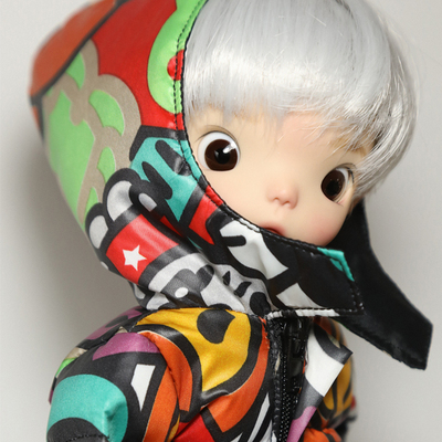 taobao agent Three points, four points and six points bjd/ob24/blythe joint body/12 inch trendy doll male soldier color cotton coat