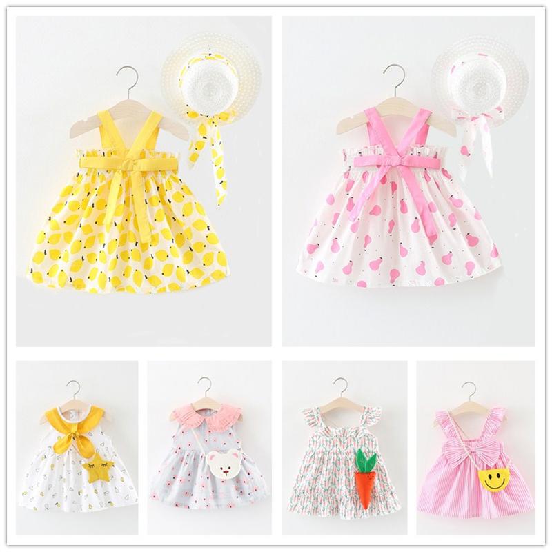 Cô gái ăn mặc 2018 mới nhỏ trinh nữ bé mùa hè váy dây đeo váy 0-1-2-3 tuổi trẻ em công chúa váy