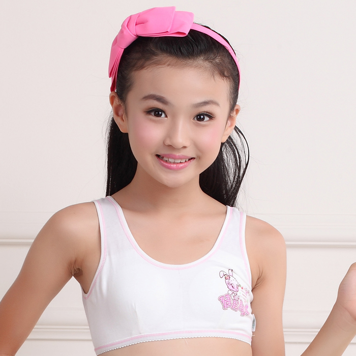 d47c2503b3880 genuine drinks drums girls underwear cotton small vest development period  chest students tube top big chest