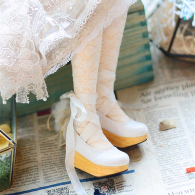 taobao agent Lace-up clogs BJD doll shoes Four-point three-point SD doll Female Giant Baby Salon MDD MSD Xiong Mei