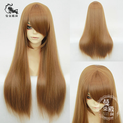 42agent [spot] universal long straight hair 60cm black and white gray pink yellow blue purple brown daily long Cos wig - Taobao
