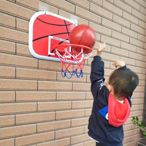 室内儿童悬挂式篮球架宿舍挂墙壁篮框户外家用宝宝投篮玩具免打孔