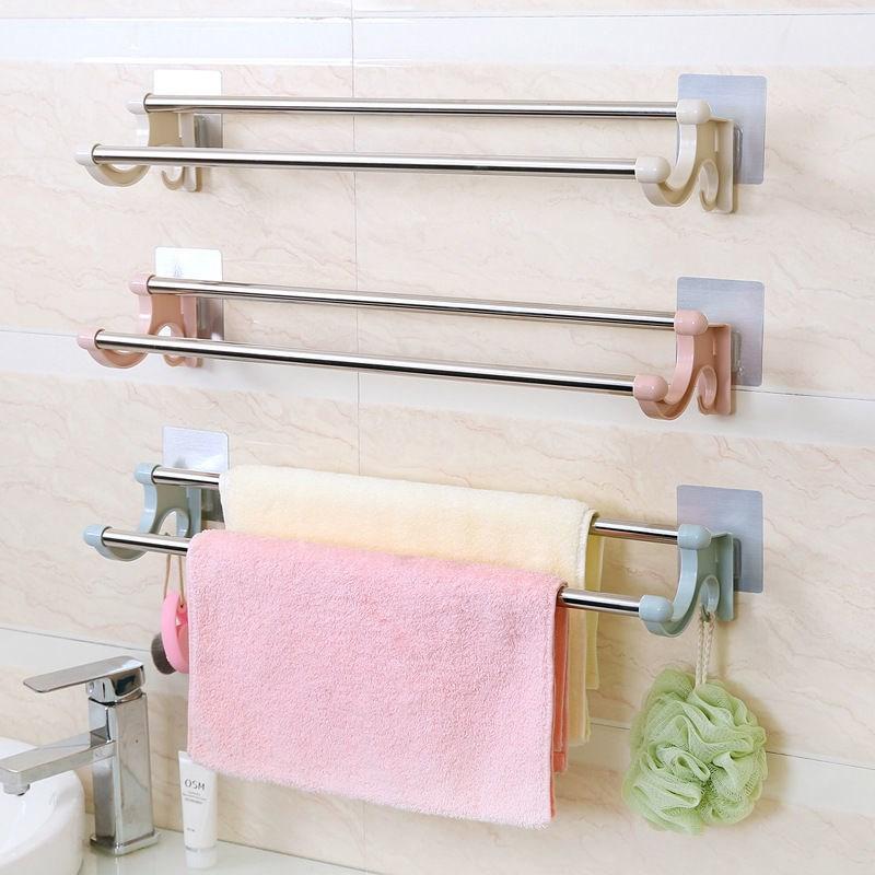 居家日用免打孔毛巾架卫生间挂毛巾的架子浴