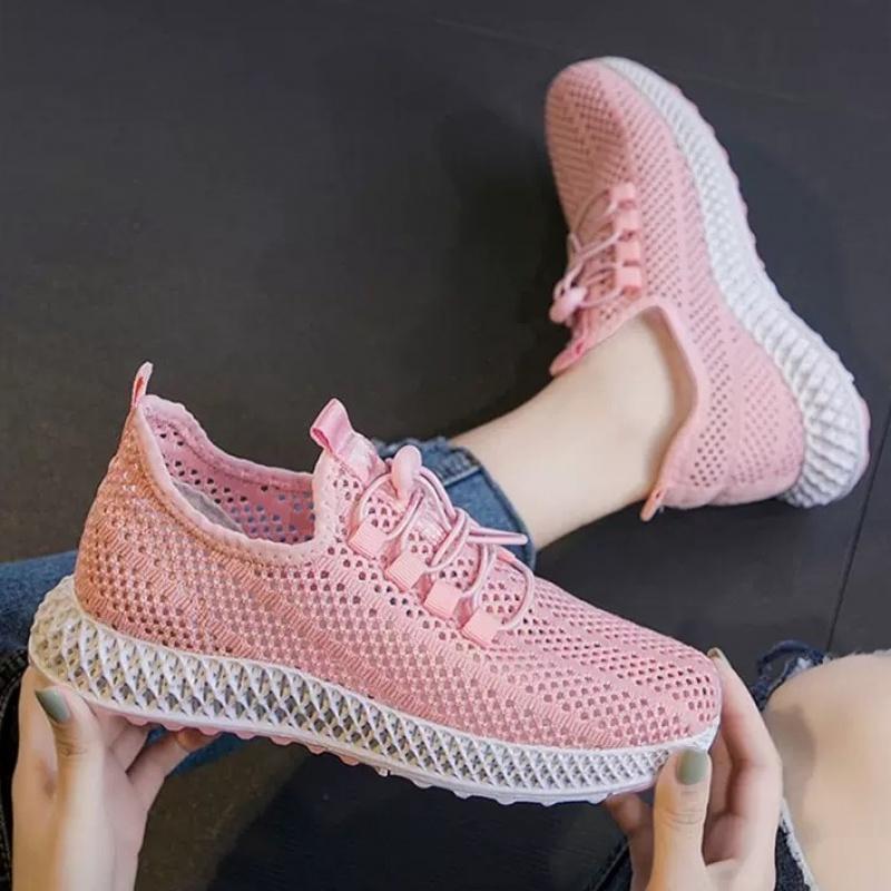 韩版百搭休闲鞋飞织透气网鞋女