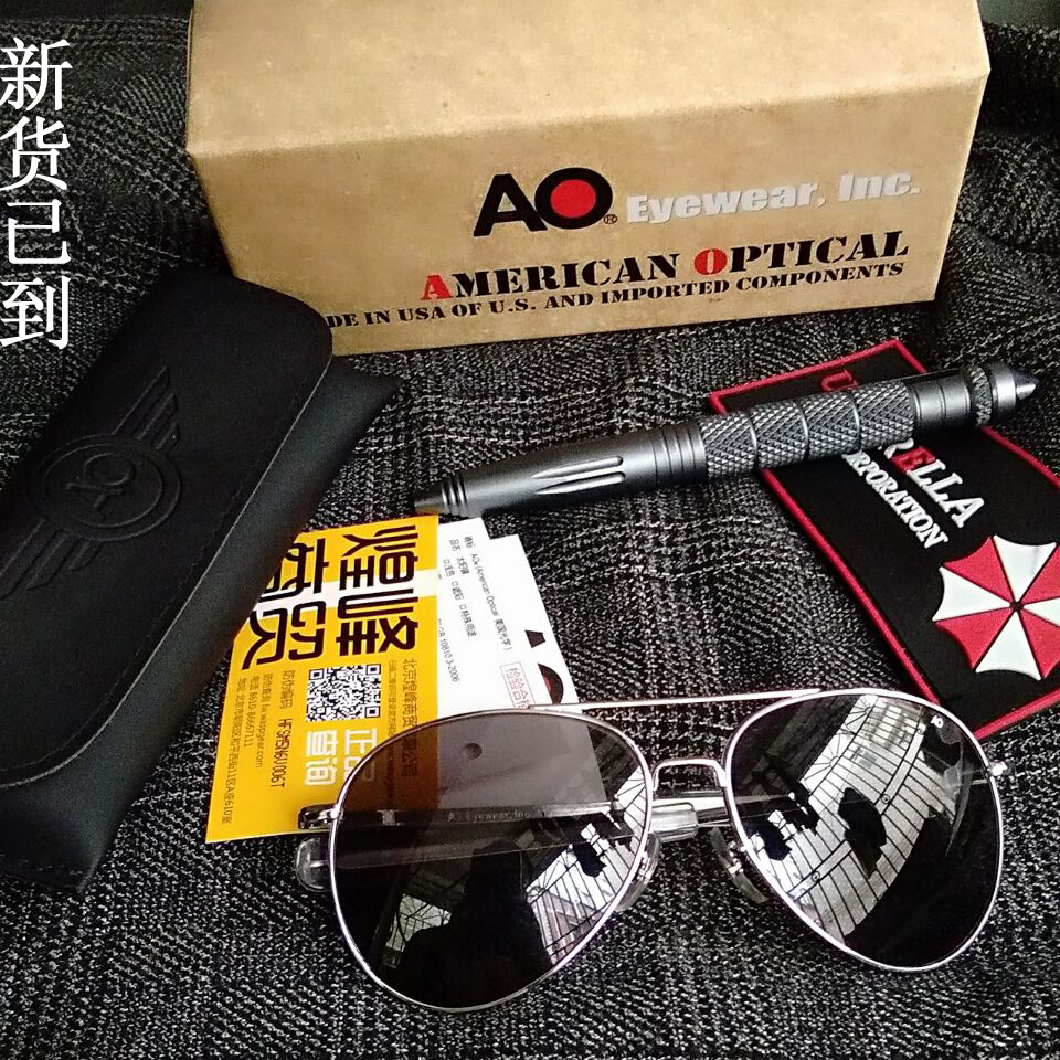 Imported AO American Optical American Optica General Sunglasses Mirror Lens  Bright Silver Frame 16d866096a