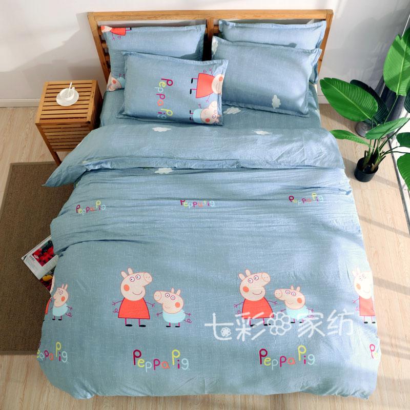 水洗棉四件套ins全棉超柔裸睡公主简约1.8m床双人1.5米被套床品[券后89.00元]