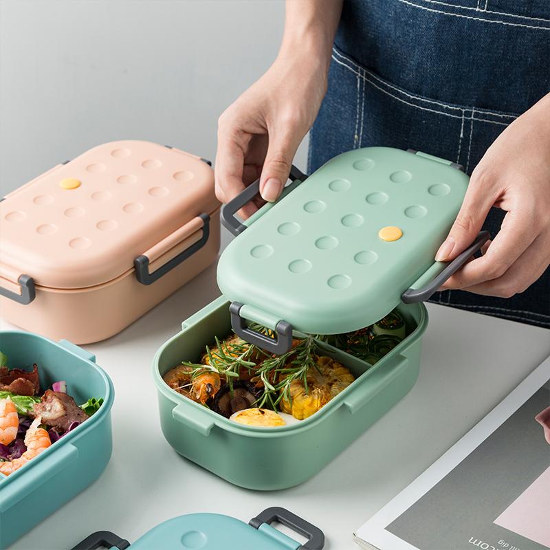 苏黎世带饭饭盒分隔型上班族学生微波炉加热专用便当盒分格日式餐