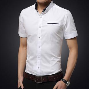 男装时尚休闲春夏季长袖衬衫 男士修身